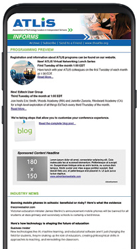 newsletter on phone image